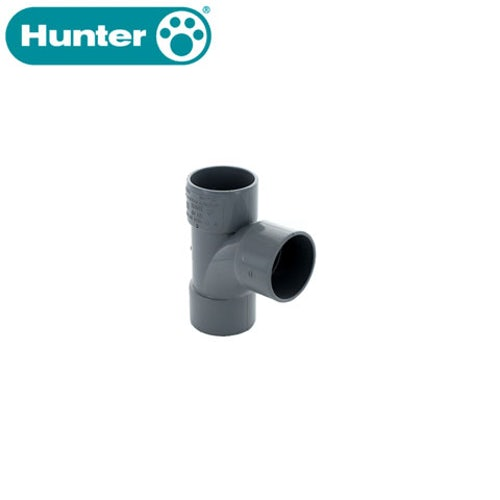 Hunter 32mm Solvent Waste Pipe 92.5dg Tee - Grey