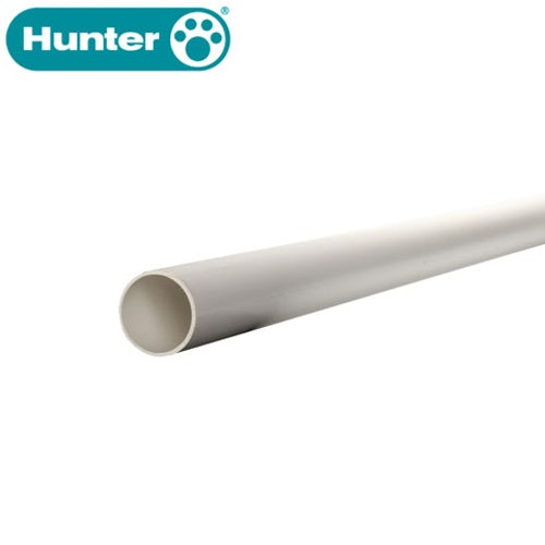 Hunter 40mm Plain End Solvent Waste Pipe - 4m White