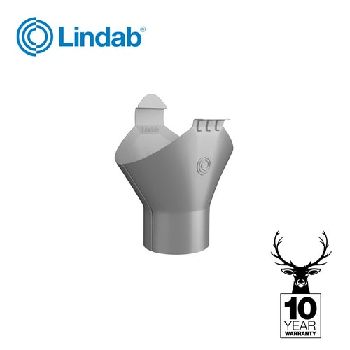Steel Gutter Half Round 125mm to 87mm Gutter Outlet - Lindab Magestic