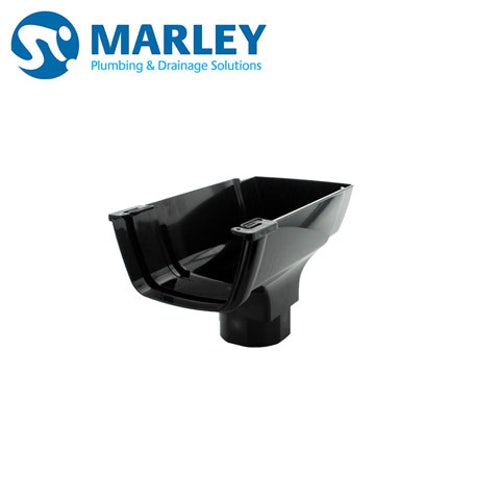 Marley Flowline 112mm X 60mm Stopend Outlet Black