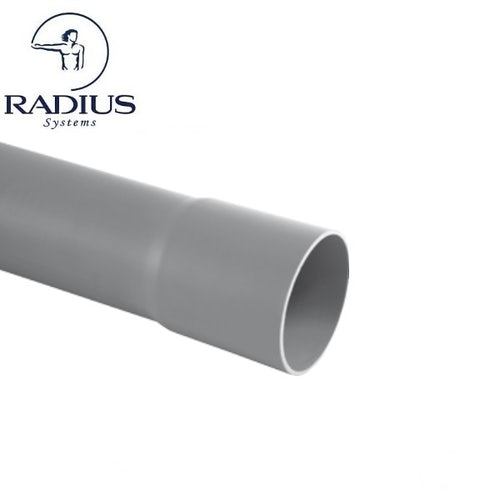 BT Ducting Rigid Socketed Pipe Length 54mm x 6m - Grey