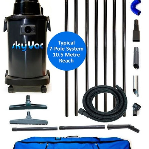 Gutter Cleaning System SkyVac Atom 4 Pole Package - 6m Reach