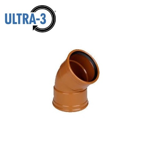 Video of ULTRA3 Sewer Underground Drainage 45dg Bend Double Socket - 110mm