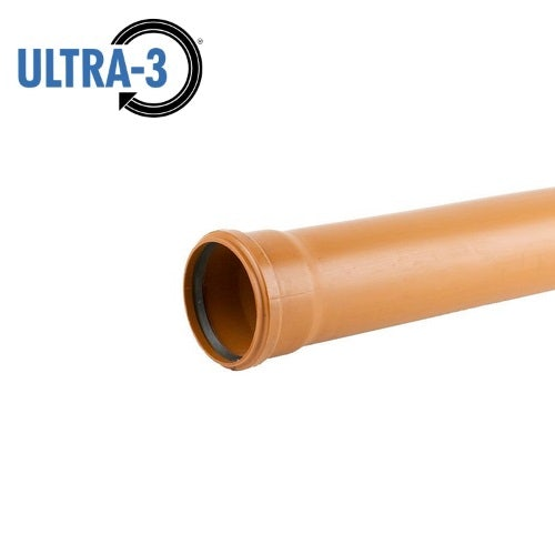 Video of ULTRA3 Sewer Underground Drainage Pipe Single Socket 3m - 110mm