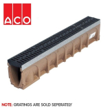 ACO MultiDrain M100D Sloped - 135mm x 220/225mm x 1000mm