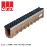 ACO MultiDrain M100D Sloped Channel Drain - 135mm x 155/160mm x 1000mm