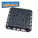 Clark Drain Manhole Cover and Frame 600L x 600W x 100H Cast Iron D400