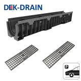Dek-Drain VIP HD-PE Channel & Mesh Ductile Grate B125 - 1000 x 158 x 214mm