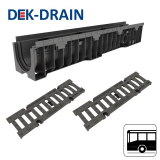 Dek-Drain VIP HD-PE Channel & Ductile Iron Grate C250 - 1000 x 158 x 154mm