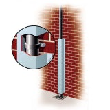 Galvanised Rainwater Downpipe Protector 75mm x 75mm x 2.4m