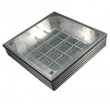 EcoGrid Aluminium Double-Seal Recess Manhole Cover - 300 x 300 x 48mm