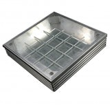 EcoGrid Aluminium Double-Seal Recess Manhole Cover - 600 x 450 x 68mm