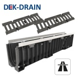 Heavy Duty Channel Drain Iron Grating 1000 x 158 x 221mm - D400 Class