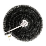 5'' (125mm) Hedgehog Gutter Brushes - 4m Black Leaf Gutter Guard
