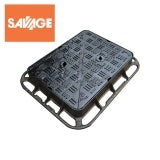 Cast Iron Manhole Cover and Frame 450L x 450W x 100H - D400 Class