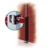 Galvanised Downpipe Protector 180mm x 180mm x 2.5m - Black